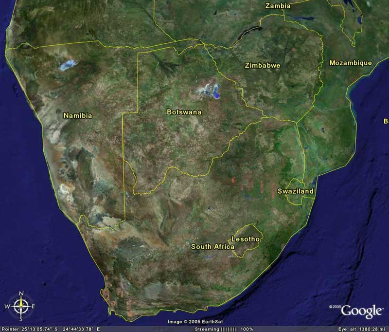 south africa map google